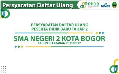Daftar Ulang PPDB Tahap 2 Jalur Zonasi